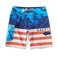 """Men Respect Performance Stretch 20"""" Outseam Swim Board Shorts Salt Life Fitted FNONPCQ"""