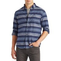 Chaps Performance Flannel Shirt Navy Multi - Men Casual Shirts stores JDZW921