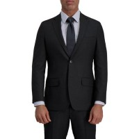 Haggar® Men's Signature Herringbone Tailored Fit Two Button Flap Pocket Suit Separate Coat Dark Gray Heather - Men Jackets shopping ZXFV385